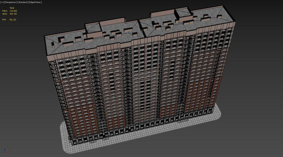 Edificio alto royalty-free modelo 3d - Preview no. 28