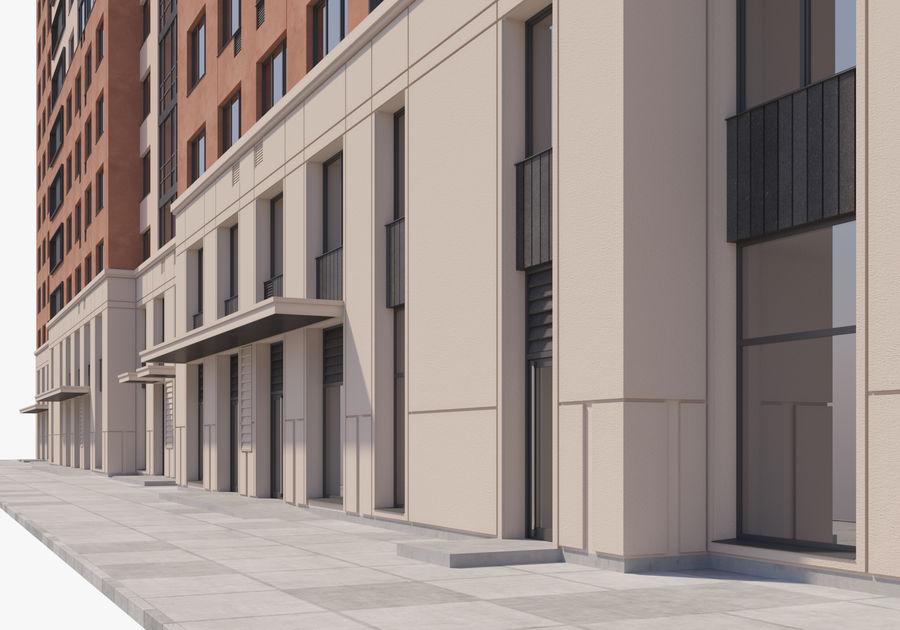 Edificio alto royalty-free modelo 3d - Preview no. 11