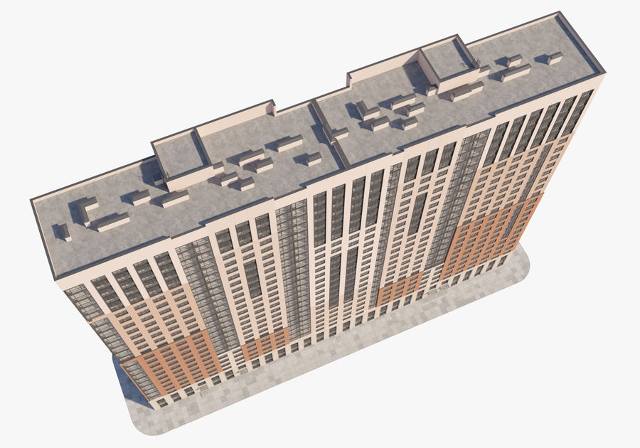 Edificio alto royalty-free modelo 3d - Preview no. 3