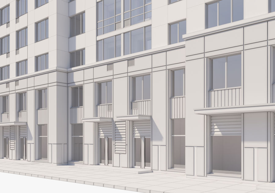 Edificio alto royalty-free modelo 3d - Preview no. 25