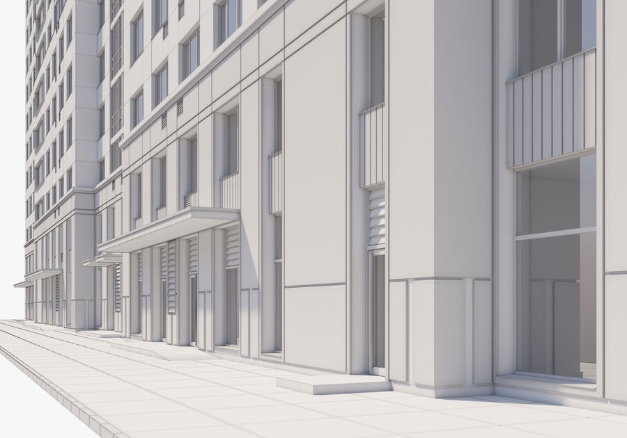 Edificio alto royalty-free modelo 3d - Preview no. 24