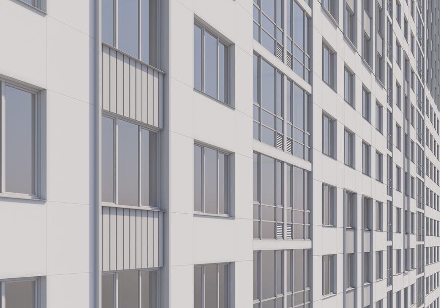 Edificio alto royalty-free modelo 3d - Preview no. 22