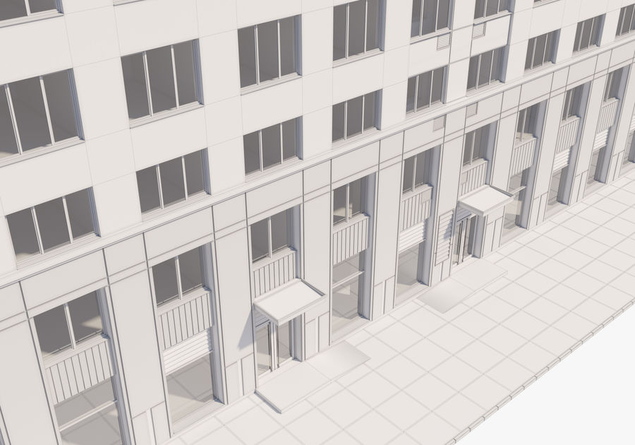 高层建筑 royalty-free 3d model - Preview no. 19