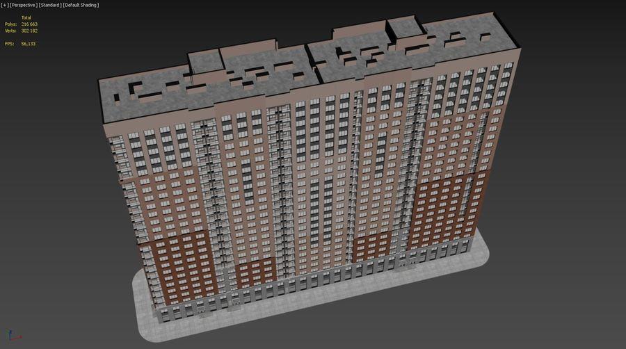 Edificio alto royalty-free modelo 3d - Preview no. 27