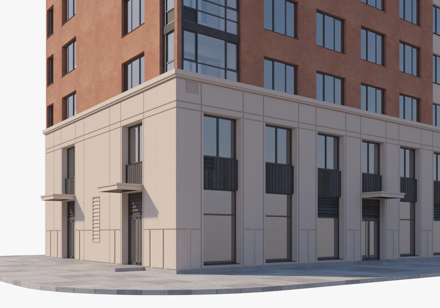 Edificio alto royalty-free modelo 3d - Preview no. 8