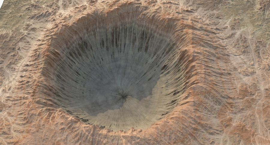 Crater Terrain - 2 royalty-free 3d model - Preview no. 10