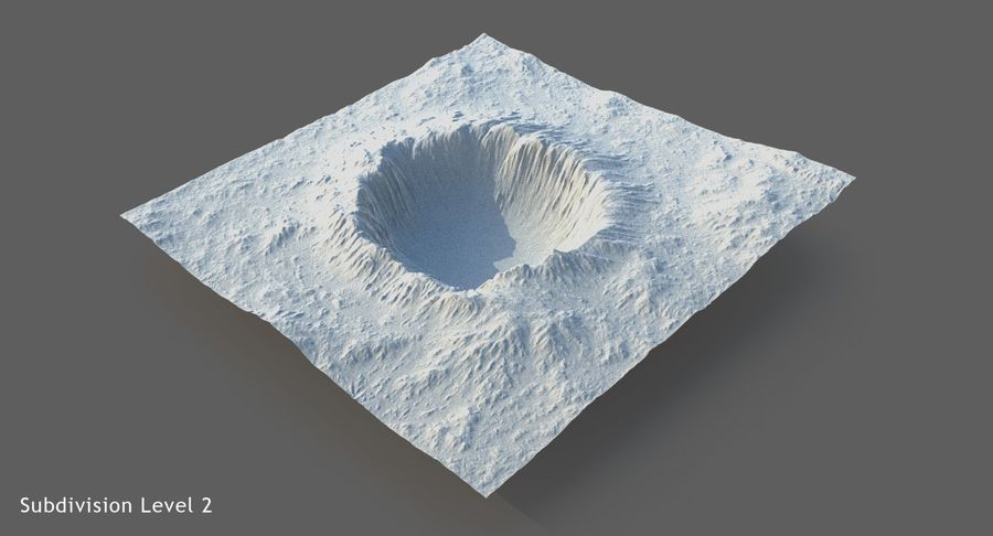 Crater Terrain - 2 royalty-free 3d model - Preview no. 17