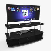Playstation Classic e TV 3d model