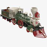 圣诞火车 3d model