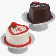 Tortas En Forma De Corazón modelo 3d