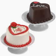 Heart Shaped Cakes 3d model