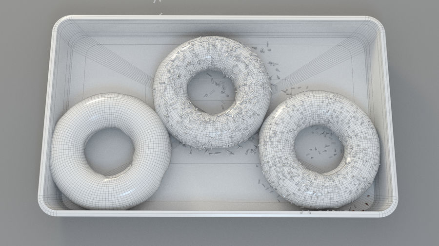 Doughnuts Donut royalty-free 3d model - Preview no. 4