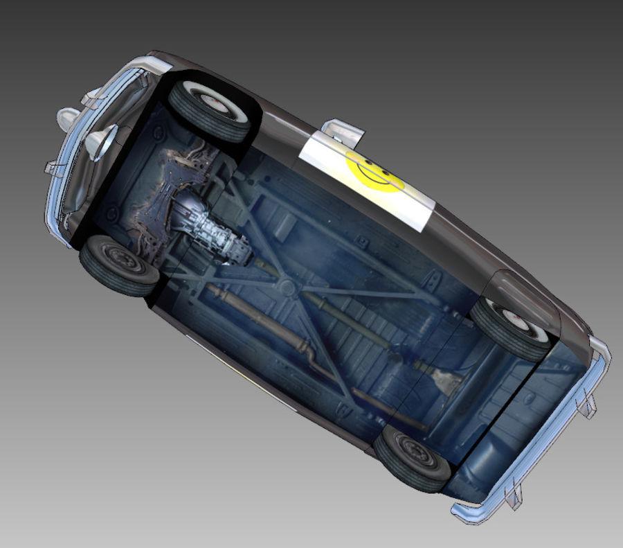 CARTOON Retro samochód policyjny royalty-free 3d model - Preview no. 16