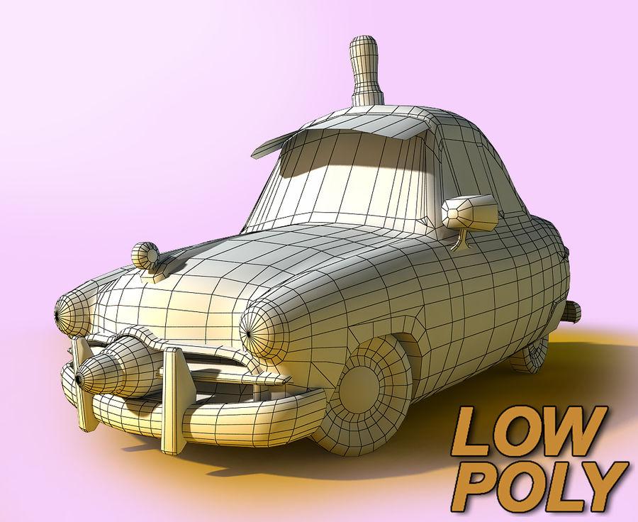 CARTOON Retro samochód policyjny royalty-free 3d model - Preview no. 3