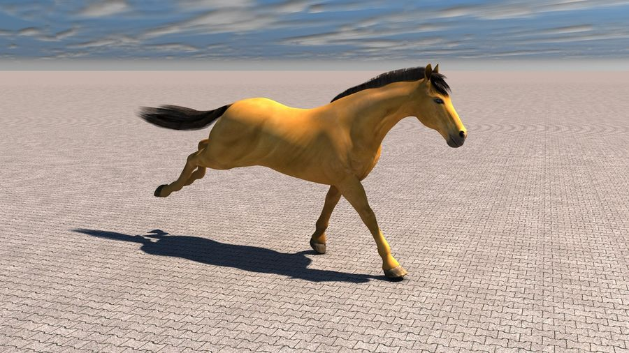 Cheval royalty-free 3d model - Preview no. 1