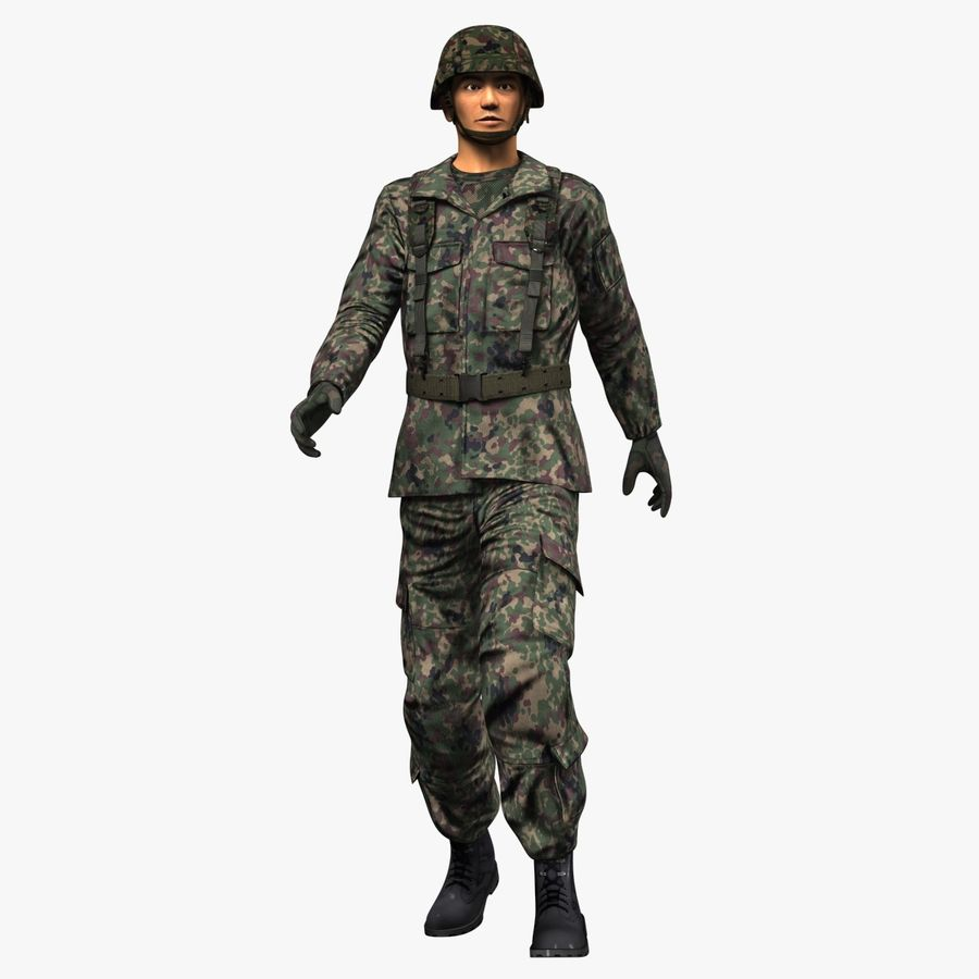 Asker JGSDF royalty-free 3d model - Preview no. 3