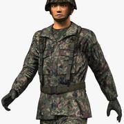 Soldado JGSDF modelo 3d