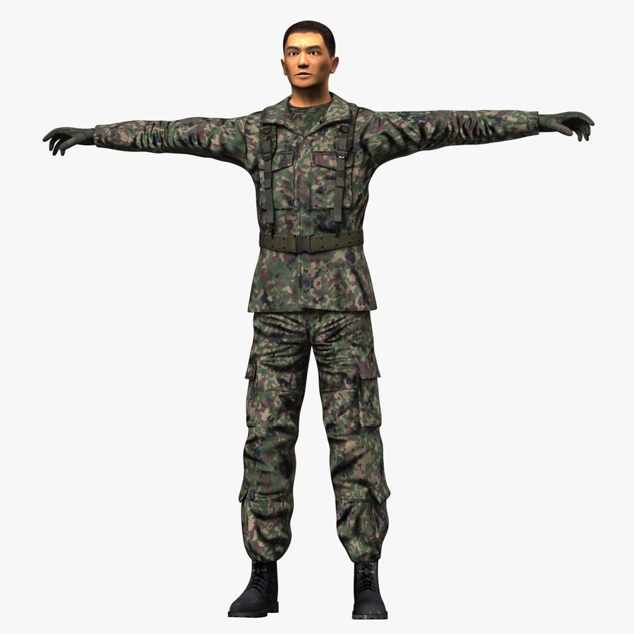 Asker JGSDF royalty-free 3d model - Preview no. 10
