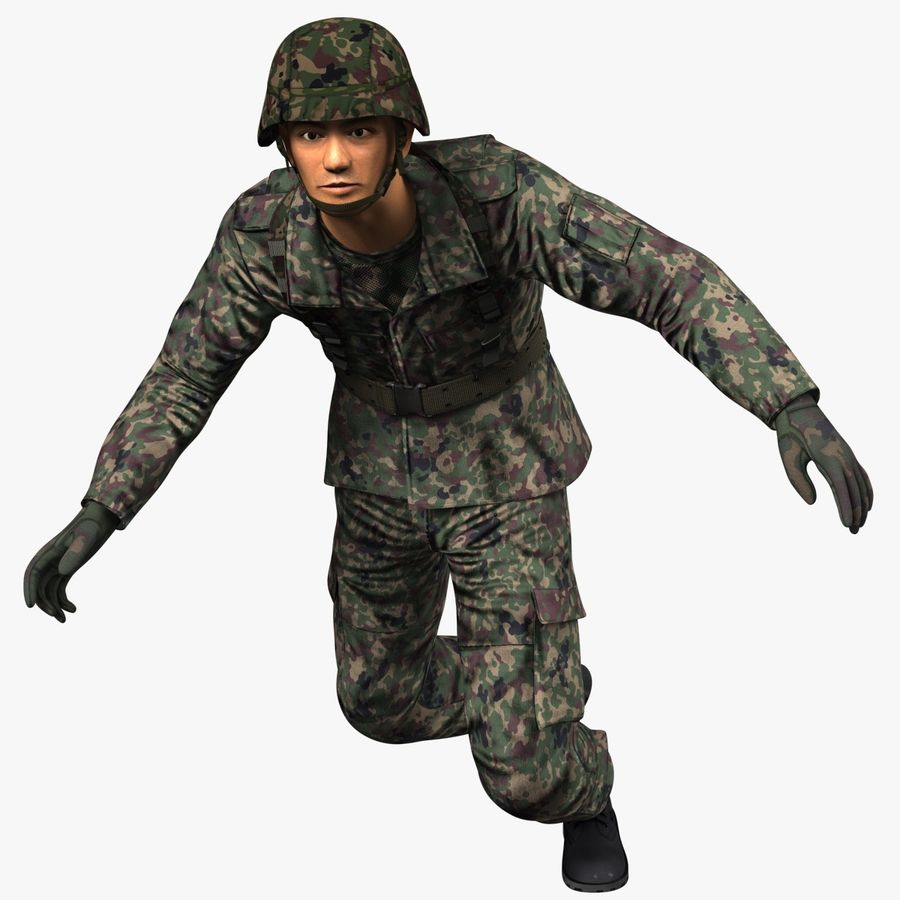 Asker JGSDF royalty-free 3d model - Preview no. 7