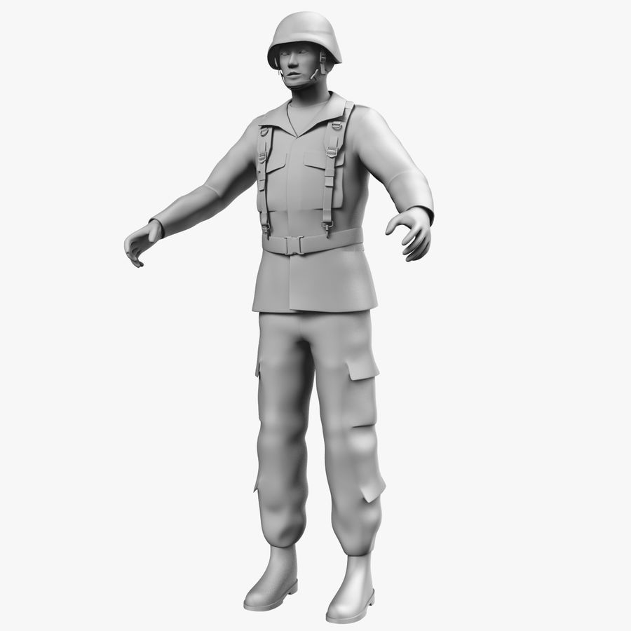 Asker JGSDF royalty-free 3d model - Preview no. 12