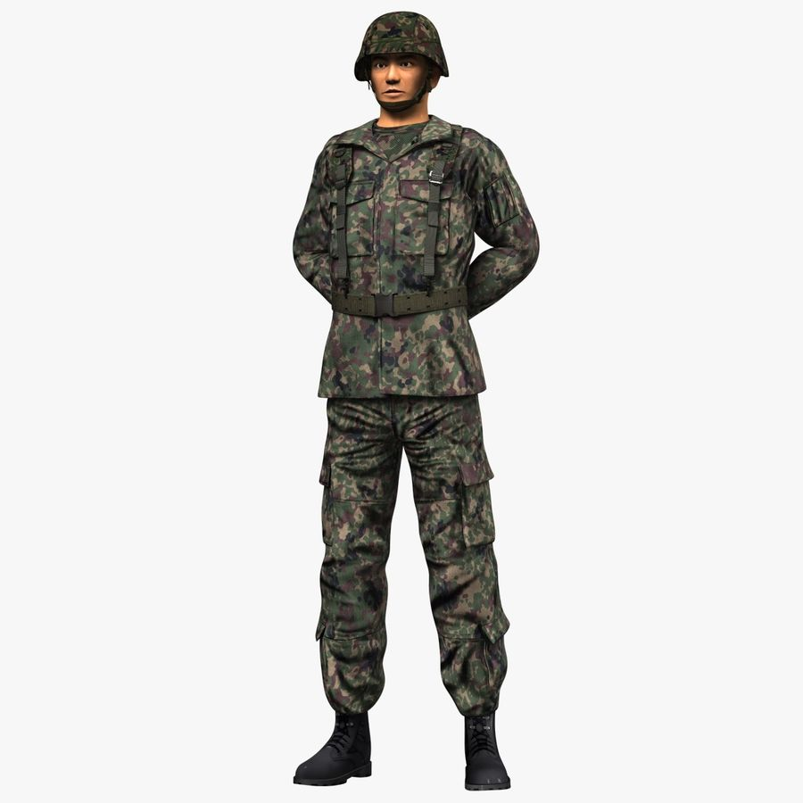 Asker JGSDF royalty-free 3d model - Preview no. 6