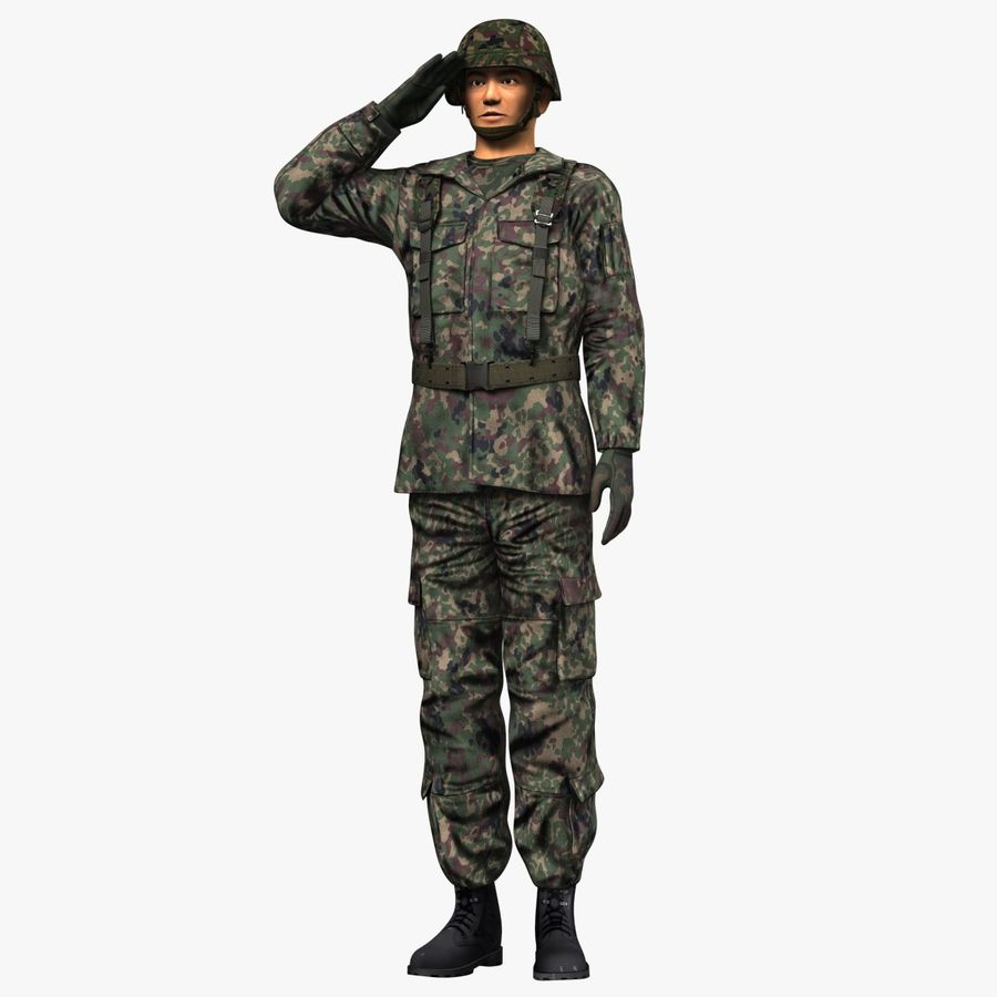Asker JGSDF royalty-free 3d model - Preview no. 5