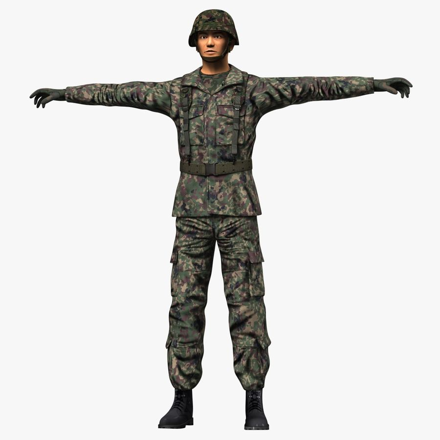 Asker JGSDF royalty-free 3d model - Preview no. 9