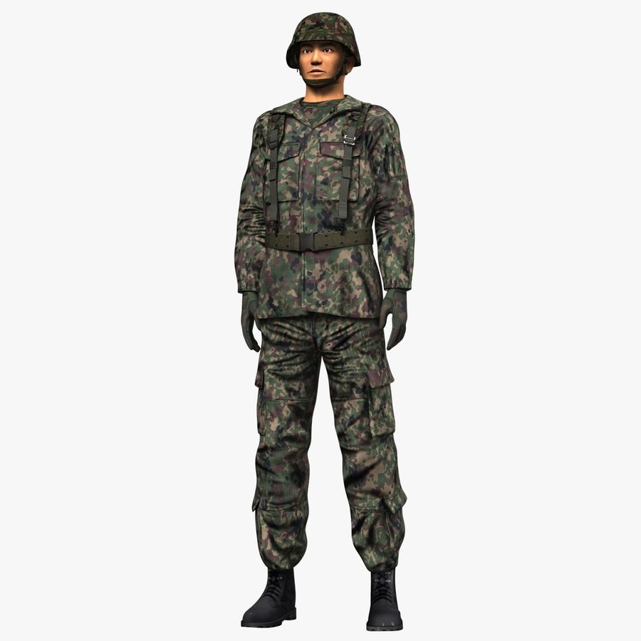 Asker JGSDF royalty-free 3d model - Preview no. 4