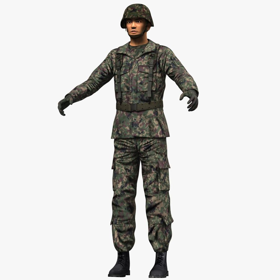 Asker JGSDF royalty-free 3d model - Preview no. 2