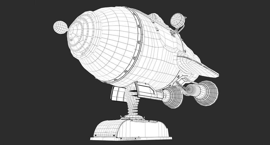 Retro Space Ship Fahrt royalty-free 3d model - Preview no. 17