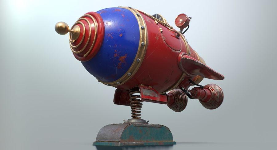 Retro Space Ship Fahrt royalty-free 3d model - Preview no. 15
