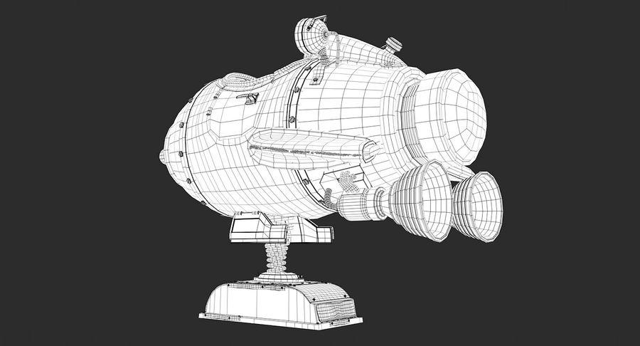 Retro Space Ship Fahrt royalty-free 3d model - Preview no. 14