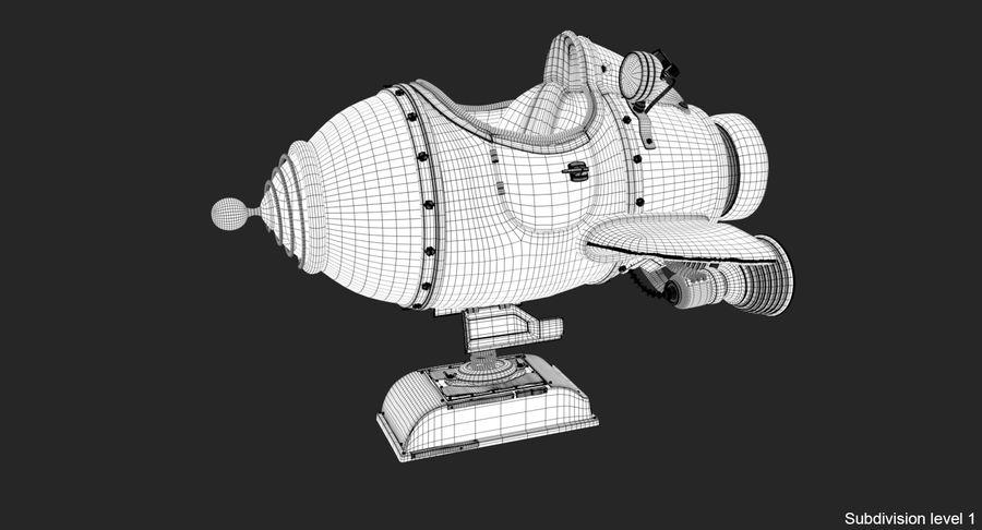 Retro Space Ship Fahrt royalty-free 3d model - Preview no. 22