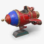 Retro Space Ship Ride 3d model