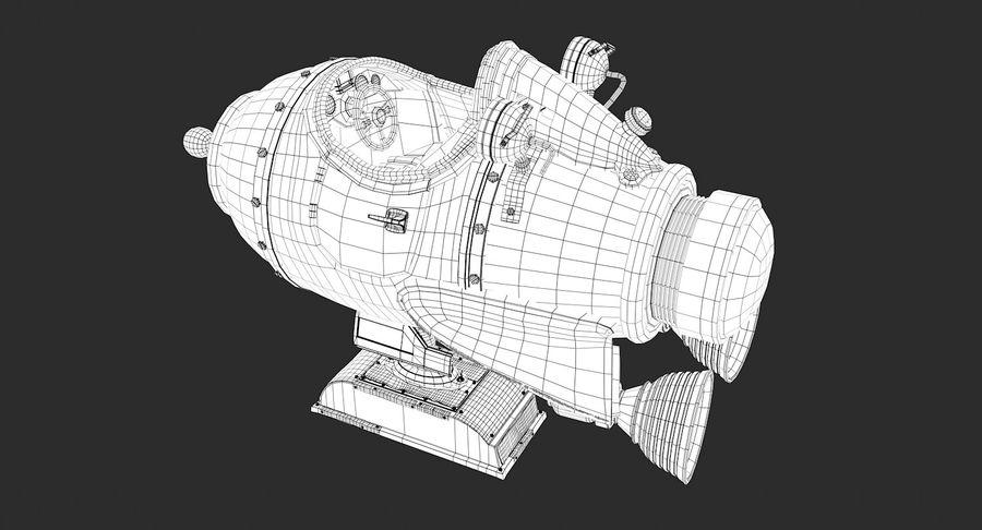 Retro Space Ship Fahrt royalty-free 3d model - Preview no. 11