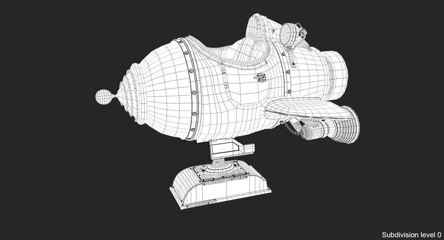 Retro Space Ship Fahrt royalty-free 3d model - Preview no. 21