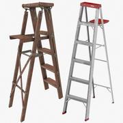 绘画梯子收藏 3d model