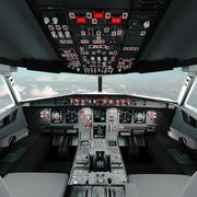 Flugzeug-Cockpit (A320) 3d model