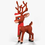 クリスマスのトナカイのキャラクター 3d model