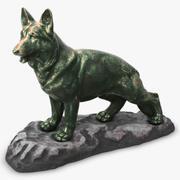 Bronze Dog Statue 3d model