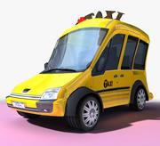 卡通出租车 3d model