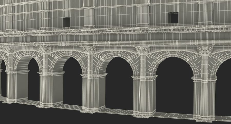 Ancient Wall with Arches 3D Model royalty-free 3d model - Preview no. 20