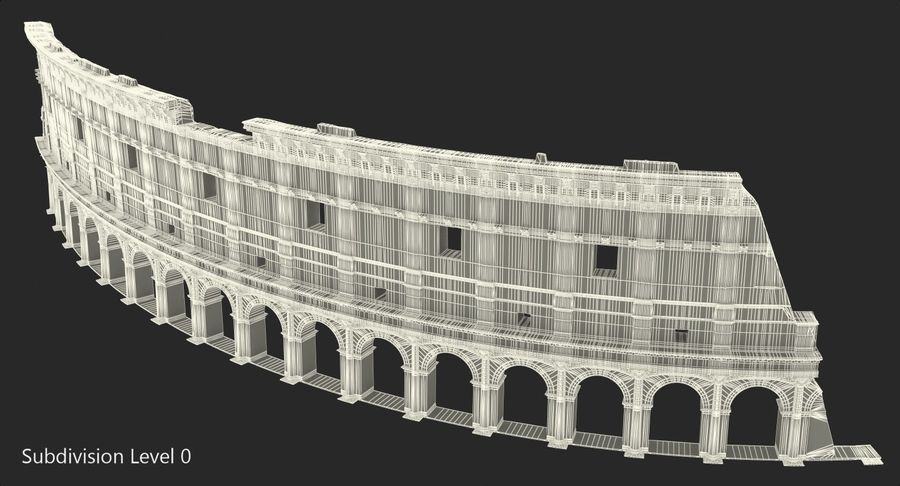 Ancient Wall with Arches 3D Model royalty-free 3d model - Preview no. 11
