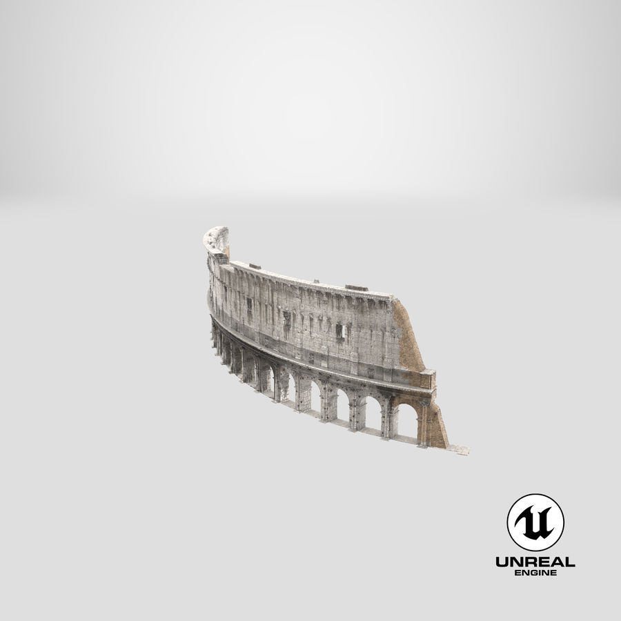 Ancient Wall with Arches 3D Model royalty-free 3d model - Preview no. 24
