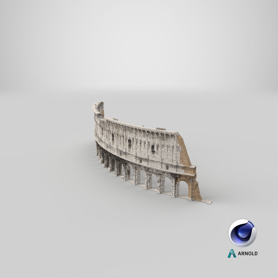 Ancient Wall with Arches 3D Model royalty-free 3d model - Preview no. 22