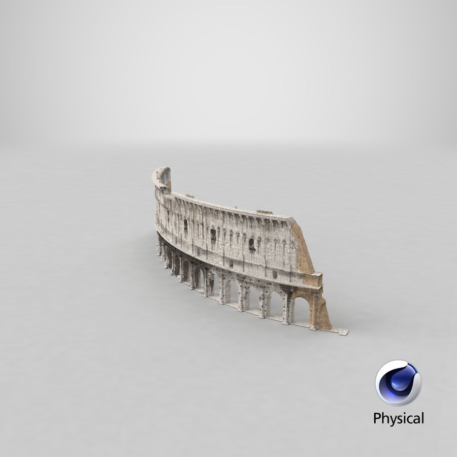 Ancient Wall with Arches 3D Model royalty-free 3d model - Preview no. 21