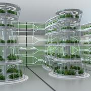 Hydroponics Vertical Farm 3d model