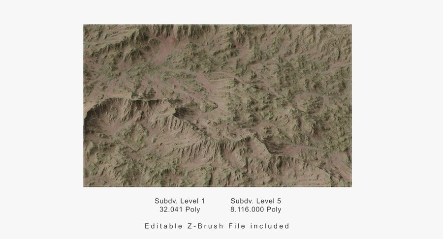 Grassy Terrain 2 royalty-free 3d model - Preview no. 13