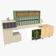食料品店の棚01 3d model