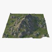 Rocky Grassy Mountain 3d model